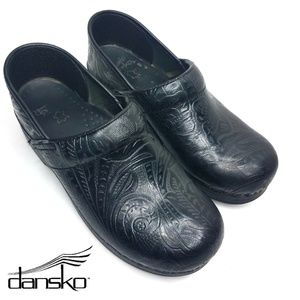 Dansko Professional Clog Black Patterned 38eu 8us